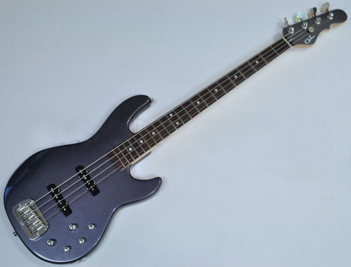 G&L MJ-4 USA Custom Made Electric Bass in Graphite Metallic, G&L USA MJ-4 Graphite Metallic
