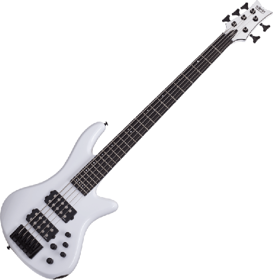 Schecter Stiletto Stage-5 Electric Bass Gloss White, 2482