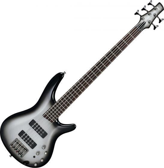 Ibanez SR Standard SR305E 5 String Electric Bass Metallic Silver Sunburst[, SR305EMSS]