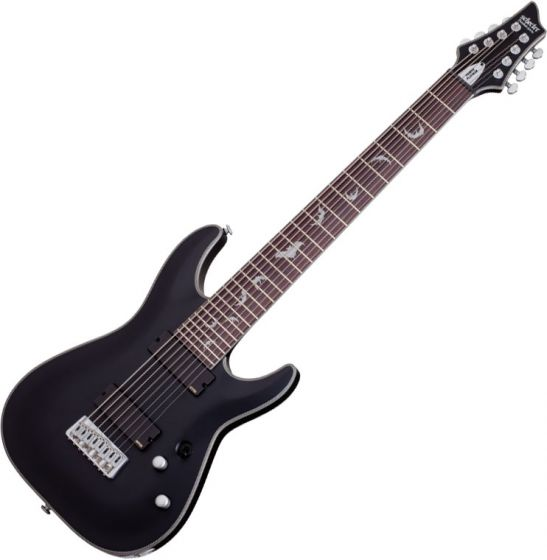 Schecter Damien Platinum-8 Electric Guitar Satin Black, 1187