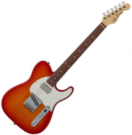 G&L ASAT Classic Bluesboy USA Fullerton Deluxe in Cherry Burst Rosewood, FD-ASTCB-CHY-CR