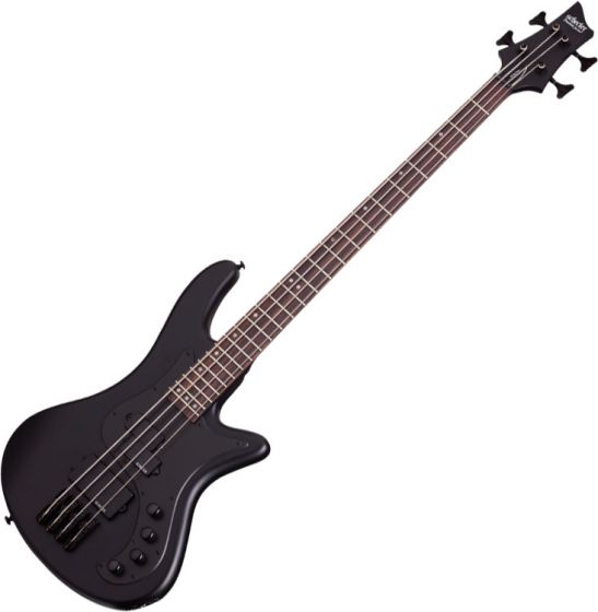 Schecter Stiletto Stealth-4 Electric Bass Satin Black, 2522