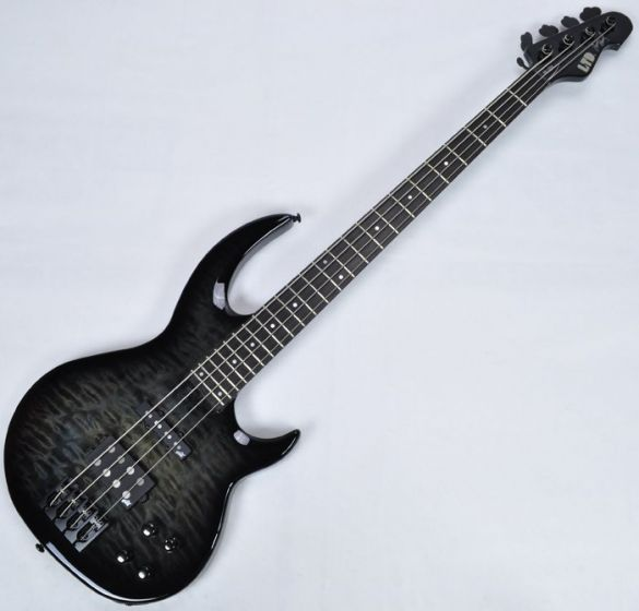 ESP LTD BB-1004QM Bunny Brunel Electric Bass in See Thru Black, BB-1004QM STBLKSB