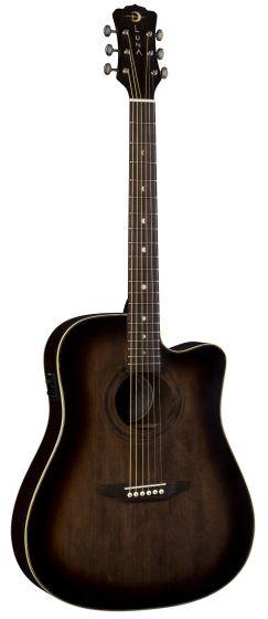 Luna Art Vintage Dreadnought Solid Top CAW A/E Guitar Dist ART V DCE, ART V DCE