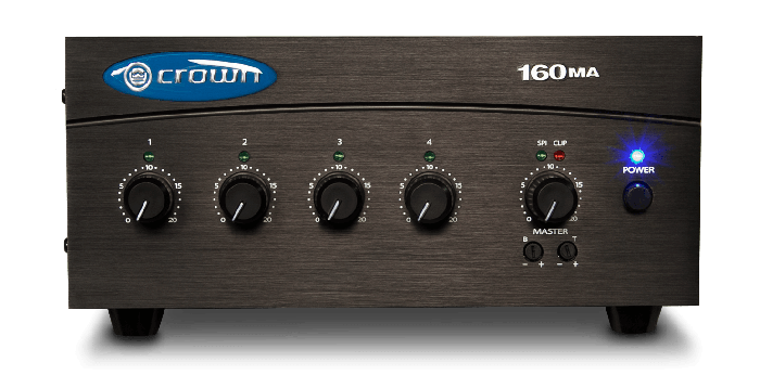 Crown Audio 160MA Four Input 60W Mixer-Amplifier, CROWN160MA
