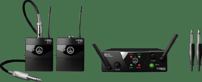 AKG WMS40 Mini Dual Instrumental Set Wireless Microphone System - Band A & B, 3351H00021