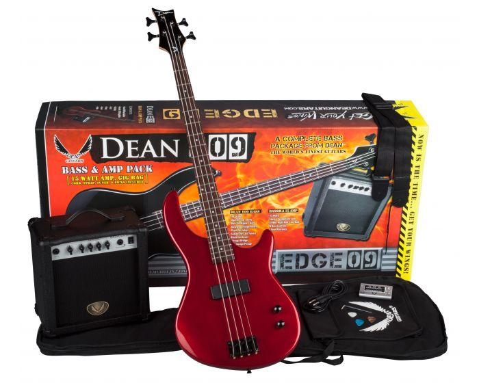 Metallic Red Dean HILLSBORO JR MRD Junior 3//4 Electric Bass