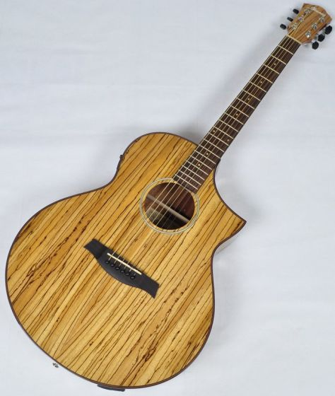 Ibanez AEW40ZW-NT AEW Series Acoustic Electric Guitar in Natural High Gloss Finish, AEW40ZWNT