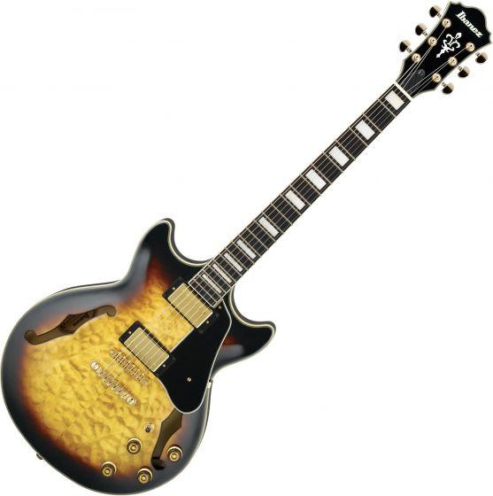 Ibanez Arctore Expressionist AM93 Hollow Body Electric Guitar Antique Yellow Sunburst, AM93AYS