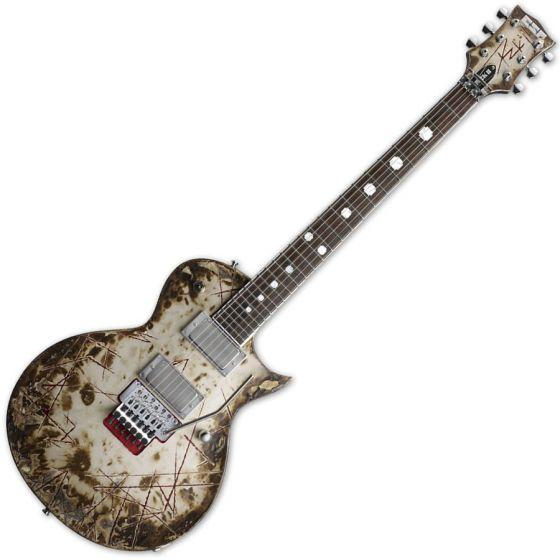 ESP Richard Z RZK-II Burnt Electric Guitar with Case, ESP RZK-II