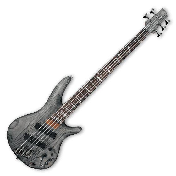 Ibanez SRFF805-BKS SR Workshop Series 5 String Multi-Scale Electric Bass in Black Stained Finish[, SRFF805BKS]