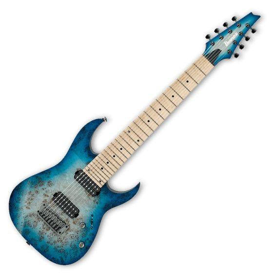 Ibanez RG Prestige RG852MPB 8 String Electric Guitar in Ghost Fleet Blue Burst, RG852MPBGFB