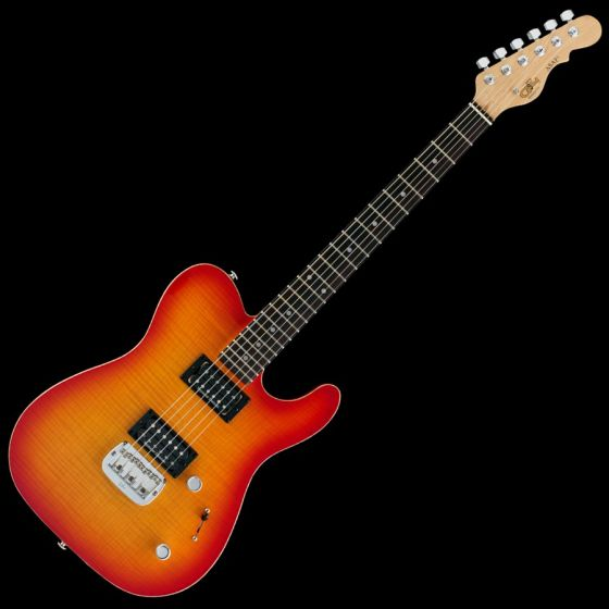 G&L ASAT Deluxe USA Custom Made Guitar in Cherryburst Finish, G&L ASAT Deluxe Cherryburst