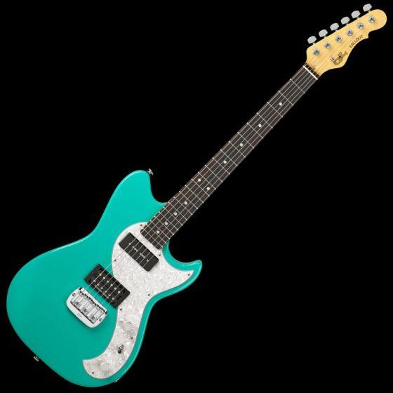 G&L Fallout USA Custom Made Guitar in Belair Green, G&L USA Fallout Belair Green