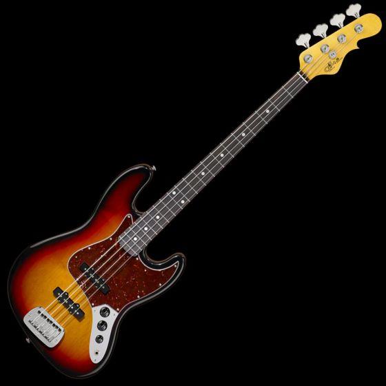 G&L JB USA Custom Made Electric Bass in 3 Tone Sunburst, G&L USA JB 3TSB