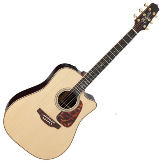 Takamine P7DC Pro Series 7 Acoustic Guitar in Natural Gloss Finish, TAKP7DC