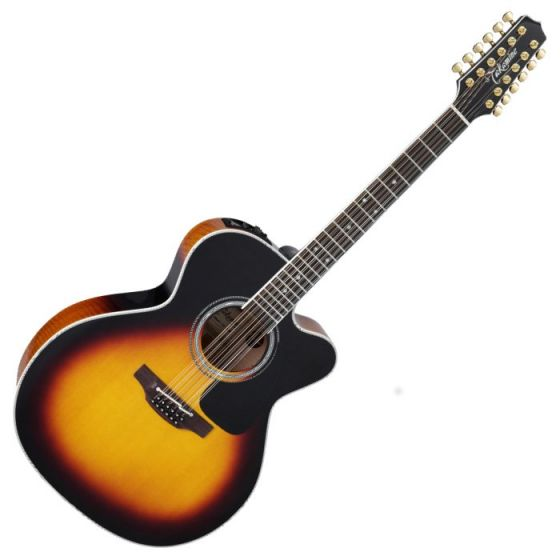 Takamine P6JC-12 BSB Pro Series 6 Cutaway 12 String Acoustic Guitar in Brown Sunburst Finish, TAKP6JC12BSB