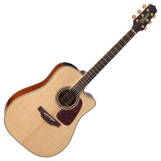Takamine P4DC Pro Series 4 Cutaway Acoustic Guitar in Natural Gloss Finish, TAKP4DC