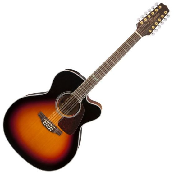 Takamine GJ72CE-12BSB G-Series G70 12 String Acoustic Guitar in Brown Sunburst Finish, TAKGJ72CE12BSB