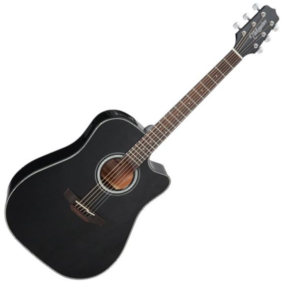 Takamine GD30CE-BLK G-Series G30 Acoustic Electric Guitar in Black Finish, TAKGD30CEBLK