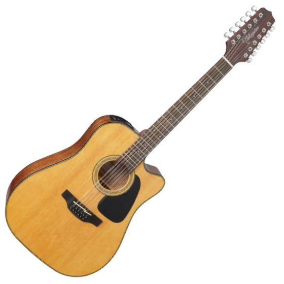 Takamine GD30CE-12NAT G-Series G30 12 String Acoustic Electric Guitar in Natural Finish, TAKGD30CE12NAT