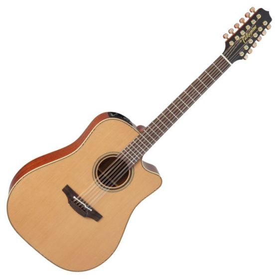 Takamine P3DC-12 Pro Series 3 Cutaway 12 String Acoustic Electric Guitar in Satin Finish, TAKP3DC12