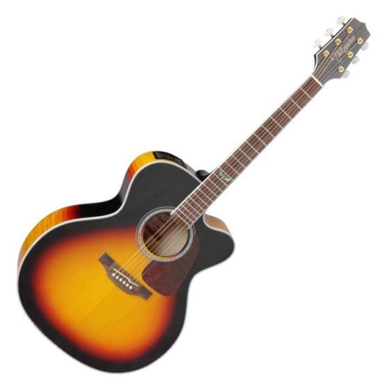 Takamine GJ72CE-BSB G-Series G70 Cutaway Acoustic Electric Guitar in Brown Sunburst Finish, TAKGJ72CEBSB