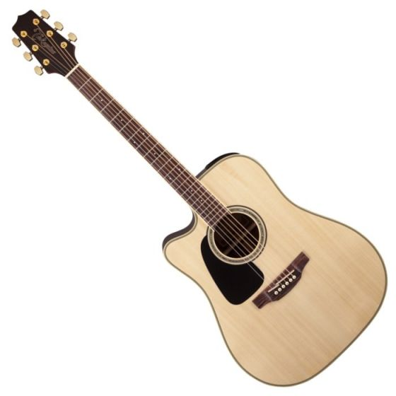 Takamine GD51CELH-NAT G-Series G50 Cutaway Left Handed Acoustic Electric Guitar in Natural Finish[, TAKGD51CELHNAT]