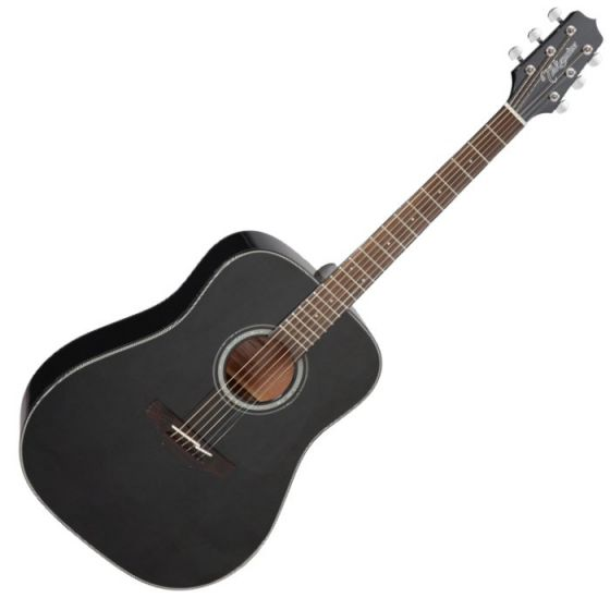 Takamine GD30-BLK G-Series G30 Acoustic Guitar in Black Finish, TAKGD30BLK