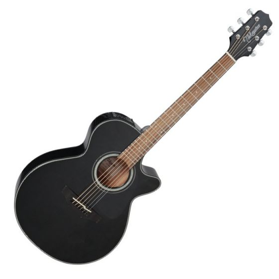 Takamine GF30CE-BLK G-Series G30 Cutaway Acoustic Electric Guitar in Black Finish, TAKGF30CEBLK
