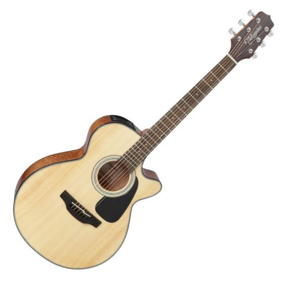 Takamine GF30CE-NAT G-Series G30 Cutaway Acoustic Electric Guitar in Natural Finish, TAKGF30CENAT