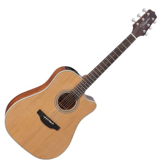 Takamine GD20CE-NS G-Series G20 Cutaway Acoustic Electric Guitar in Natural Finish, TAKGD20CENS