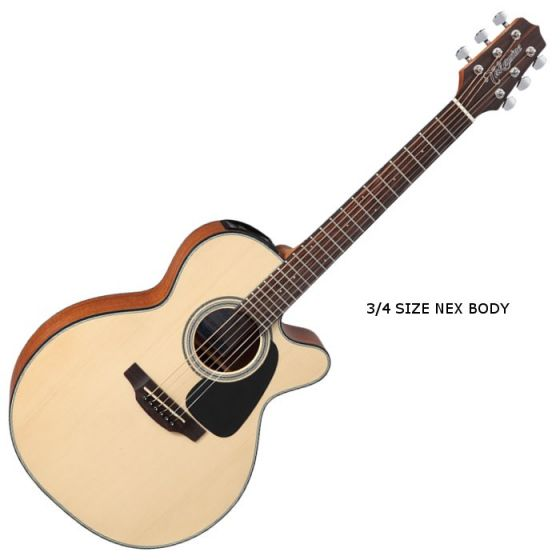Takamine GX18CE-NS G-Series Mini Acoustic Guitar in Natural Finish, TAKGX18CENS
