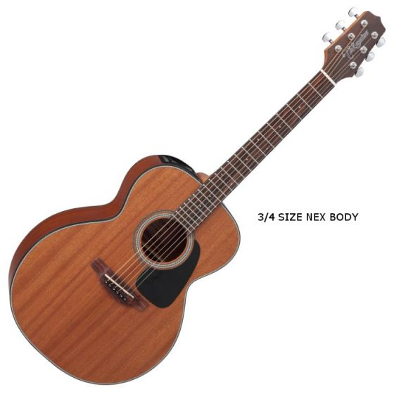 Takamine GX11ME-NS G-Series Mini Acoustic Guitar in Natural Finish, TAKGX11MENS