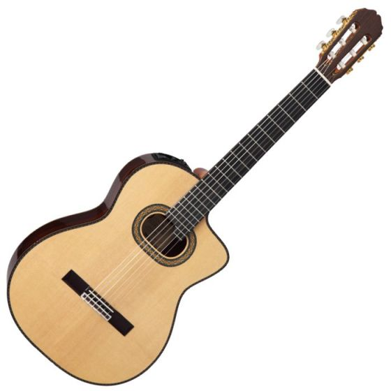 Takamine TH90 Classical Acoustic Electric Guitar in Natural Gloss Finish, TAKTH90