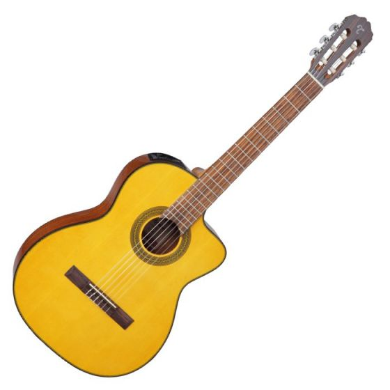 Takamine GC1CELH-NAT Left Handed G-Series Classical Acoustic Electric Guitar in Natural Finish, TAKGC1CELHNAT