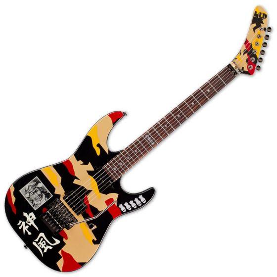 ESP LTD GL-200K George Lynch Electric Guitar in Kamikaze B-Stock, LTD GL-200K.B