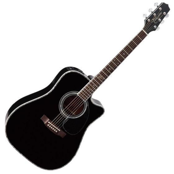Takamine Signature Series SW341SC Steve Wariner Acoustic Guitar in Gloss Black Finish, TAKSW341SC