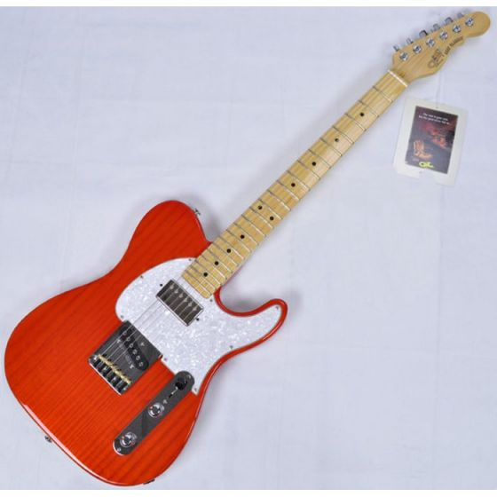 G&L ASAT Classic Bluesboy USA Custom Made Guitar in clear orange empress body, USA ASTCB-CLRORG-MP 2081