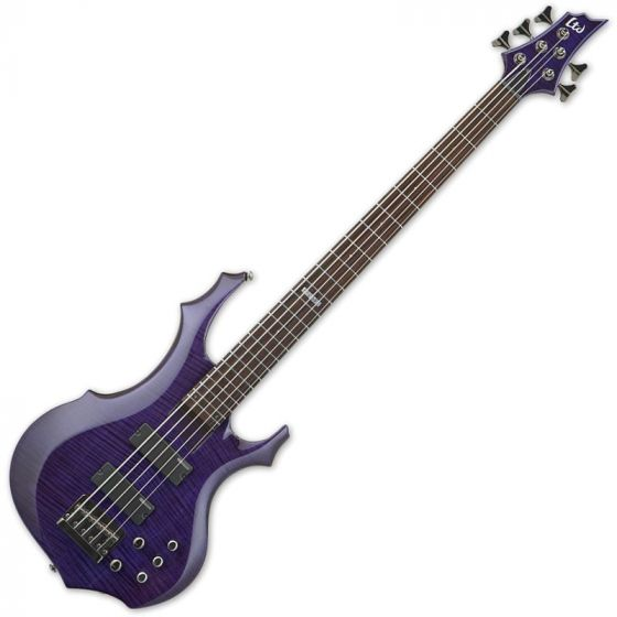 ESP LTD F-155DX Electric Bass in Dark See-Thru Purple[, LTD.F155DX.DSTP]