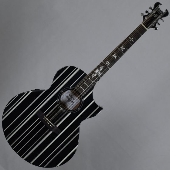 Schecter Signature Synyster Gates SYN AC-GA SC Acoustic Guitar in Gloss Black Finish, 3700