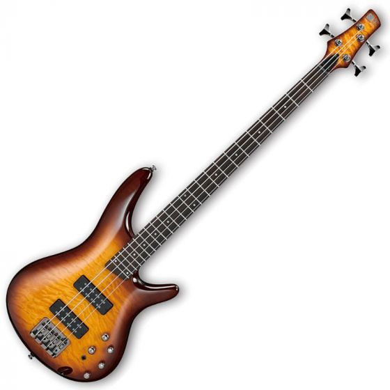 Ibanez SR400EQM-BBT SR Series Electric Bass in Brown Burst Finish, SR400EQMBBT