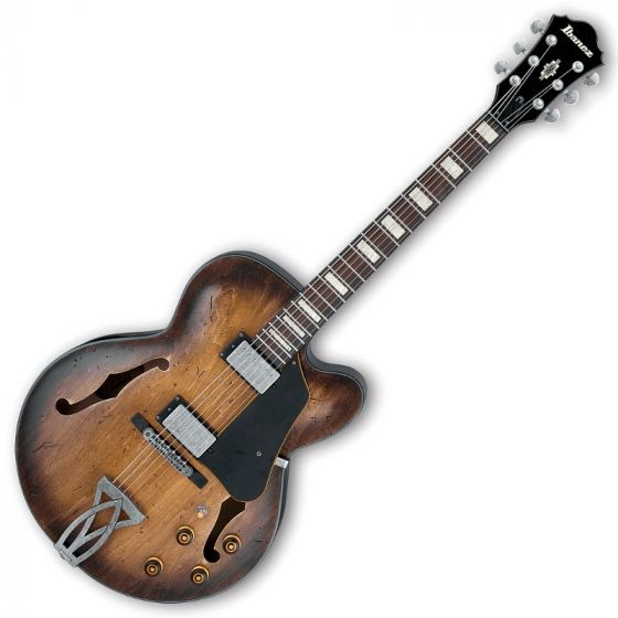 Ibanez Artcore Vintage AFV10ATCL Hollow Body Electric Guitar in Tobacco Burst Low Gloss Finish, AFV10ATCL