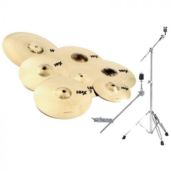 """Sabian HHX Super Set Cymbal Pack  w/free 10"""" and 18"""" - 15007XBS[, 15007XBS]"""