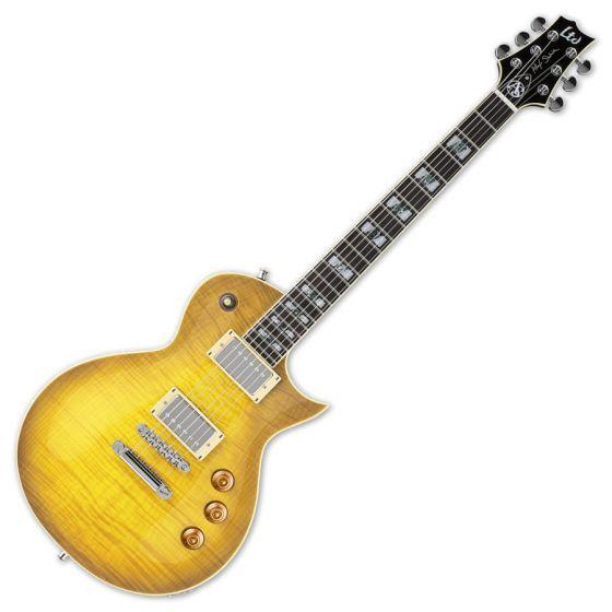 ESP LTD Alex Skolnick AS-1 FM Lemon Burst Signature Electric Guitar, LTD Alex Skolnick AS-1 FM LB