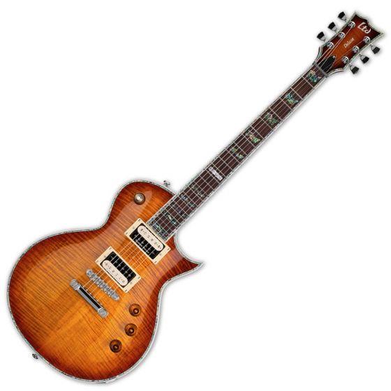 ESP LTD Deluxe EC-1000FM Duncan Amber Sunburst Guitar, ESP LTD EC-1000FM