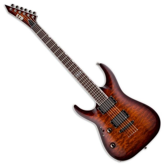 ESP LTD MH-350NT Left Handed Guitar in Dark Brown Sunburst[, MH-350NT DBSB LH]
