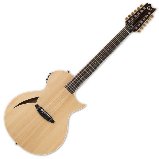 ESP LTD TL-12 12-String Acoustic Electric Guitar in Natural Finish, LTD TL-12 NAT
