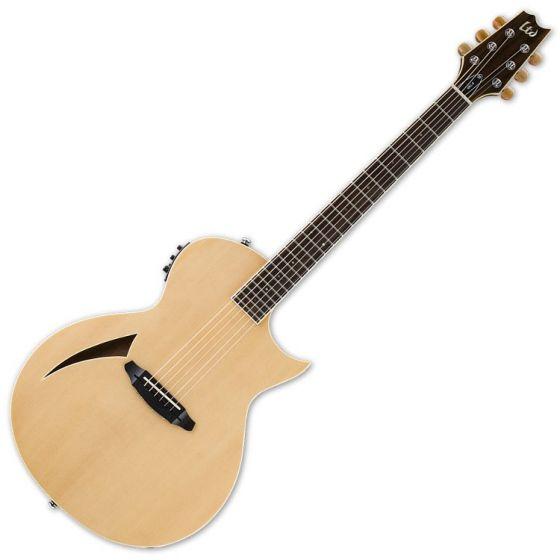 ESP LTD TL-6S Steel String Acoustic Electric Guitar in Natural Finish, LTD TL-6S NAT