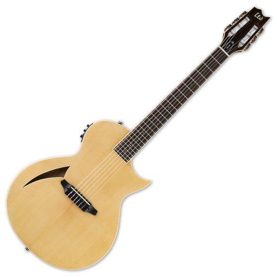ESP LTD TL-6N Nylon String Acoustic Electric Guitar in Natural Finish, LTD TL-6N NAT